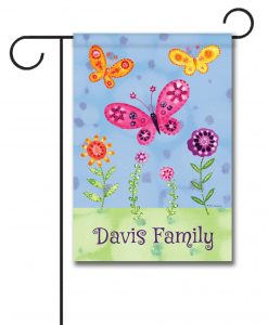 Personalized Butterfly Garden  - Garden Flag - 12.5'' x 18''