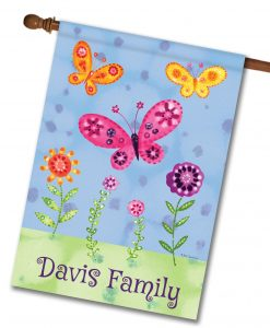 Personalized Butterfly Garden - House Flag - 28'' x 40''