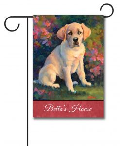 Personalized Puppy Love  - Garden Flag - 12.5'' x 18''