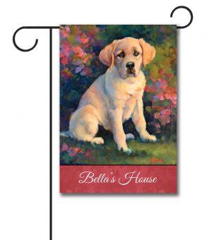 Personalized Puppy Love  - Garden Flag - 12.5'' x 18''