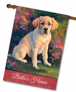Personalized Puppy Love - House Flag - 28'' x 40''