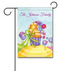 Personalized Colorful Sparkle Easter Egg  - Garden Flag - 12.5'' x 18''