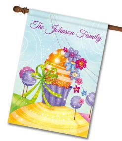 Personalized Colorful Sparkle Easter Egg - House Flag - 28'' x 40''