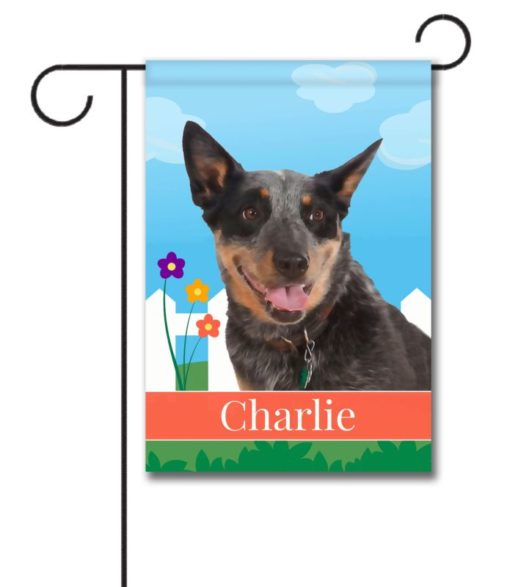 Personalized Spring Australian Cattle Dog - Garden Flag - 12.5'' x 18''