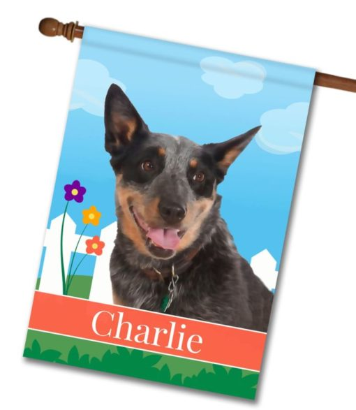 Personalized Spring Australian Cattle Dog - House Flag - 28'' x 40''