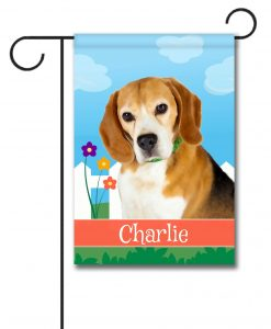 Personalized Spring Beagle - Garden Flag - 12.5'' x 18''