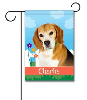 Personalized Spring Beagle - Garden Flag - 12.5'' x 18''