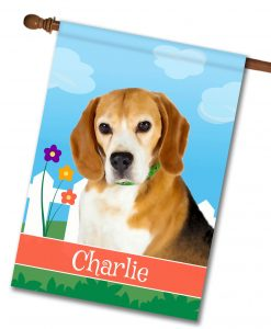 Personalized Spring Beagle - House Flag - 28'' x 40''