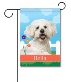 Personalized Spring Bichon Frise - Garden Flag - 12.5'' x 18''