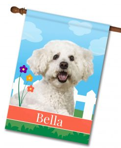 Personalized Spring Bichon Frise - House Flag - 28'' x 40''