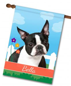 Personalized Spring Boston Terrier - House Flag - 28'' x 40''