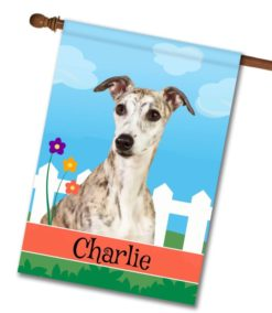 Personalized Spring Whippet - House Flag - 28'' x 40''