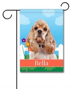 Personalized Spring Cocker Spaniel - Garden Flag - 12.5'' x 18''