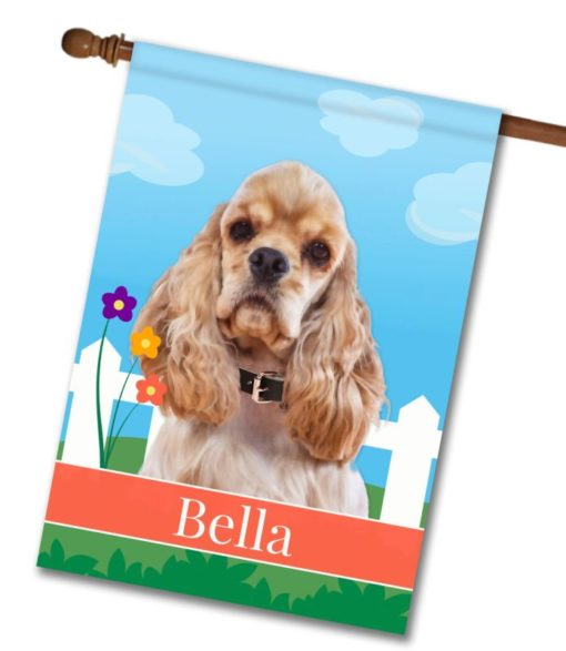 Personalized Spring Cocker Spaniel - House Flag - 28'' x 40''