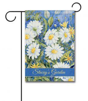 Personalized Daisy Field  - Garden Flag - 12.5'' x 18''