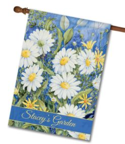 Personalized Daisy Field - House Flag - 28'' x 40''