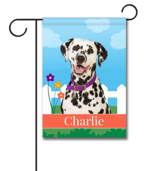 Personalized Spring Dalmation - Garden Flag - 12.5'' x 18''