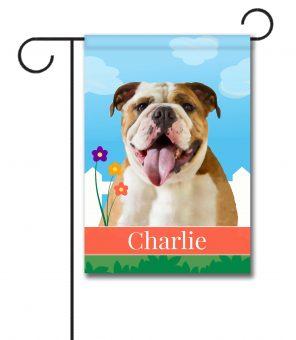 Personalized Spring English Bulldog - Garden Flag - 12.5'' x 18''
