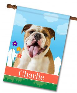 Personalized Spring English Bulldog - House Flag - 28'' x 40''