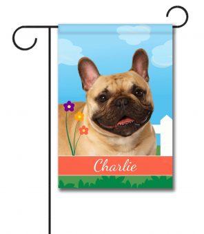 Personalized Spring French Bulldog - Garden Flag - 12.5'' x 18''