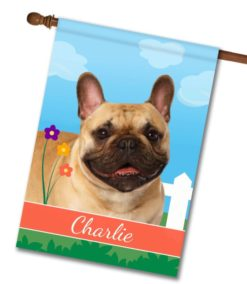 Personalized Spring French Bulldog - House Flag - 28'' x 40''
