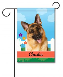Personalized Spring German Shepherd - Garden Flag - 12.5'' x 18''