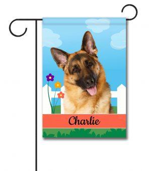 Personalized Spring German Shepherd - Garden Flag - 12.5'' x 18''