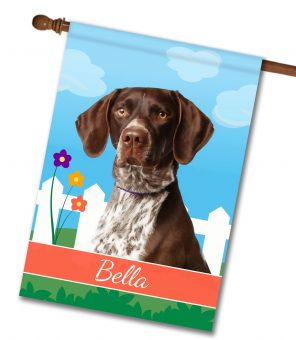 Personalized Spring German Shorthair Pointer - House Flag - 28'' x 40''