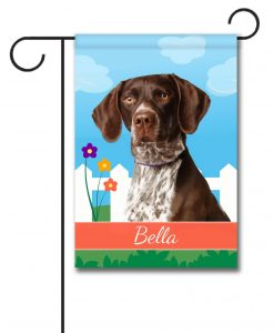 Personalized Spring German Shorthair Pointer - Garden Flag - 12.5'' x 18''