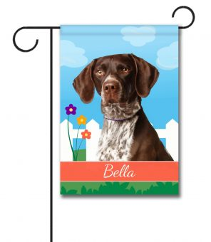 Personalized Spring German Shorthair Pointer - Garden Flag - 12.5'' x 18''