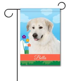 Personalized Spring Great Pyrenees - Garden Flag - 12.5'' x 18''