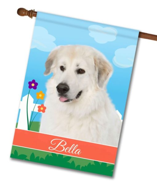 Personalized Spring Great Pyrenees - House Flag - 28'' x 40''