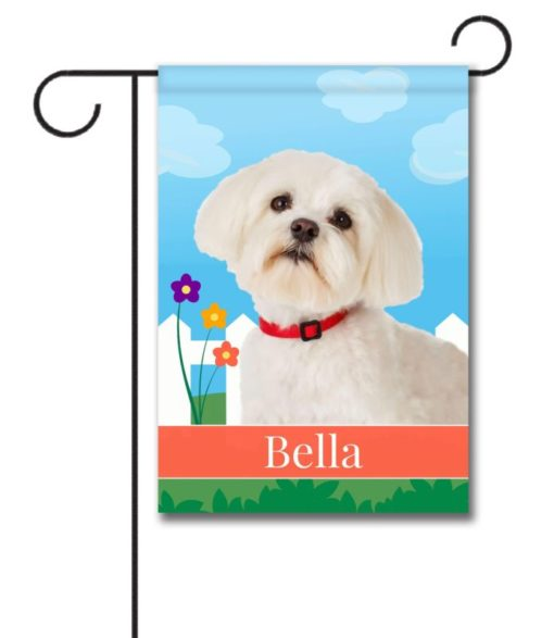 Personalized Spring Maltese - Garden Flag - 12.5'' x 18''