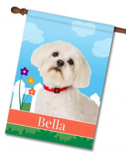 Personalized Spring Maltese - House Flag - 28'' x 40''