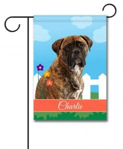 Personalized Spring Mastiff - Garden Flag - 12.5'' x 18''