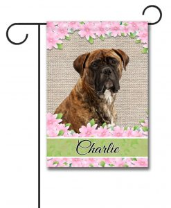 Personalized Spring Flowers Mastiff - Garden Flag - 12.5'' x 18''