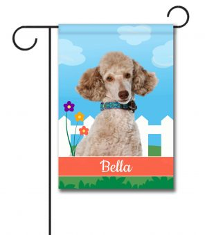 Personalized Spring Miniature Poodle - Garden Flag - 12.5'' x 18''