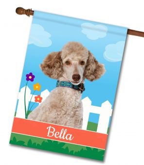 Personalized Spring Miniature Poodle - House Flag - 28'' x 40''