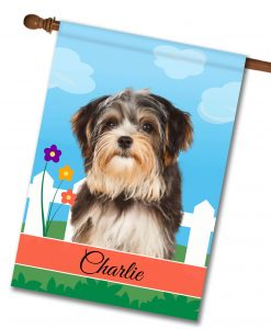 Personalized Spring Morkie - House Flag - 28'' x 40''