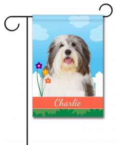 Personalized Spring Old English Sheepdog - Garden Flag - 12.5'' x 18''