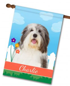 Personalized Spring Old English Sheepdog - House Flag - 28'' x 40''