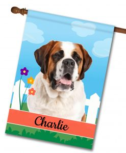 Personalized Spring Saint Bernard - House Flag - 28'' x 40''