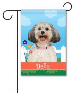 Personalized Spring Schnoodle - Garden Flag - 12.5'' x 18''