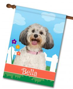 Personalized Spring Schnoodle - House Flag - 28'' x 40''