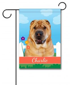 Personalized Spring Shar Pei - Garden Flag - 12.5'' x 18''