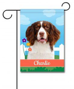 Personalized Spring Springer Spaniel - Garden Flag - 12.5'' x 18''
