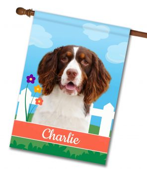 Personalized Spring Springer Spaniel - House Flag - 28'' x 40''