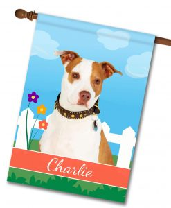 Personalized Spring Tan and White Amstaff - House Flag - 28'' x 40''