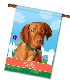 Personalized Spring Vizsla - House Flag - 28'' x 40''