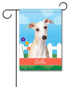 Personalized Spring Whippet II - Garden Flag - 12.5'' x 18''